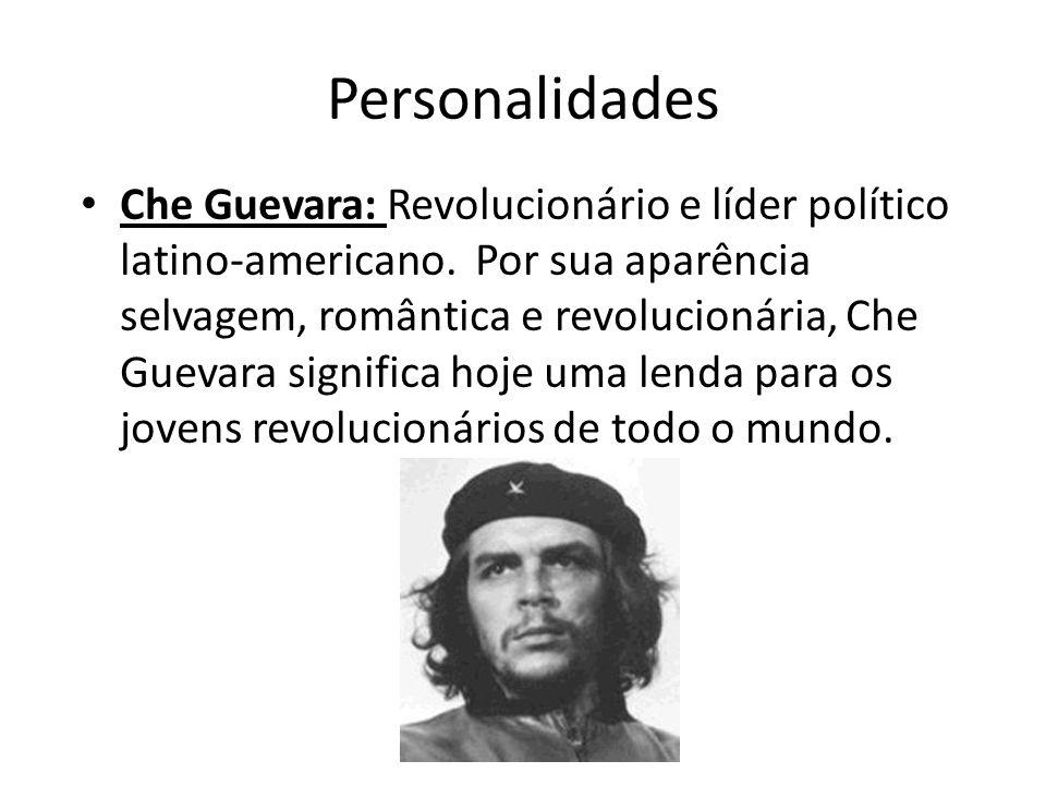 Personalidades Che Guevara: Revolucionário e líder político latino-americano. Por sua aparência selvagem, romântica e revolucionária, Che Guevara sign