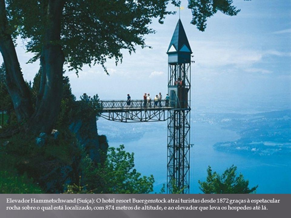 Elevador Hammetschwand (Suíça): O hotel resort Buergenstock atrai turistas desde 1872 graças à espetacular rocha sobre o qual está localizado, com 874