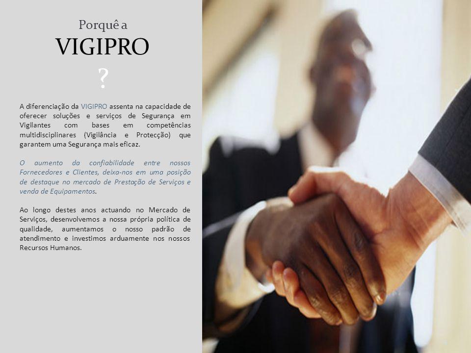 A VIGIPRO – Vigilância e Protecção, Lda. centra a sua actividade na Prestação de Serviços de Segurança para Pequenas, Médias e Grandes Empresas. Comer
