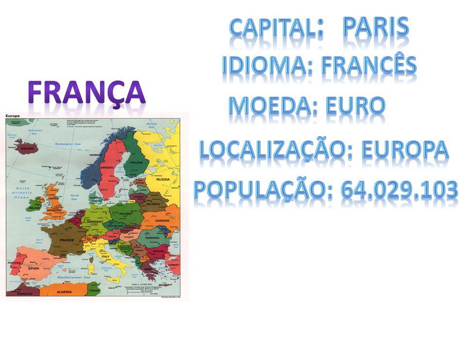 A bandeira da França é tricolor em três faixas verticais azul, branca e vermelha e simboliza a revolução da França, sendo que o azul representa o poder legislativo, branco o poder executivo e o vermelho o povo, os três dividindo igualmente o poder.