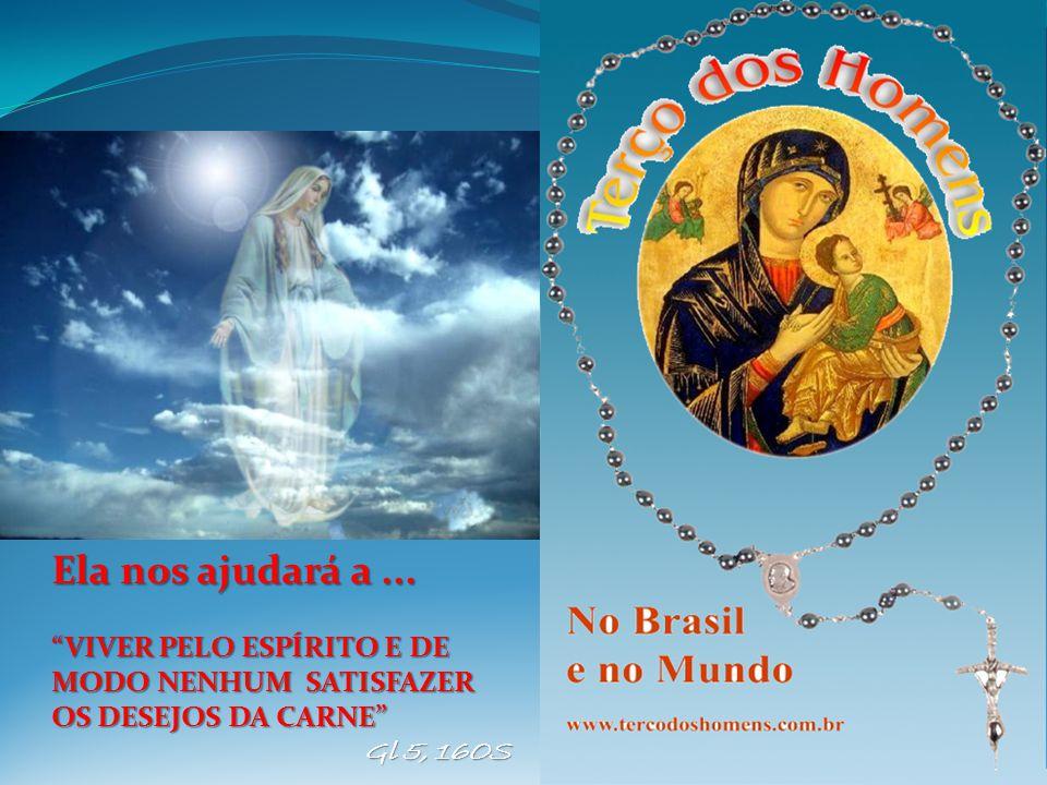 Canta-se antes de iniciar o mistério Maria de Nazaré Maria de Nazaré, Maria me cativou, Fez mais forte a minha fé E por filho me adotou.