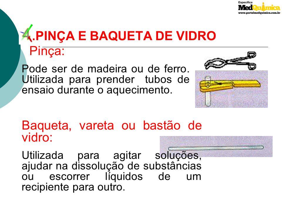 5.ESPÁTULA DE AÇO E MANTA ELÉTRICA Espátula de aço: Utilizada para transferência de sólidos ou como elemento cortante. Manta elétrica : Utilizada para