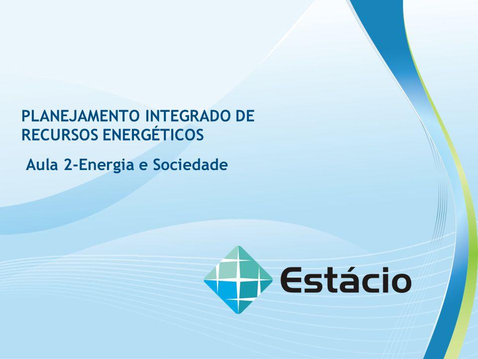 PLANEJAMENTO INTEGRADO DE RECURSOS ENERGÉTICOS Aula 2-Energia e Sociedade