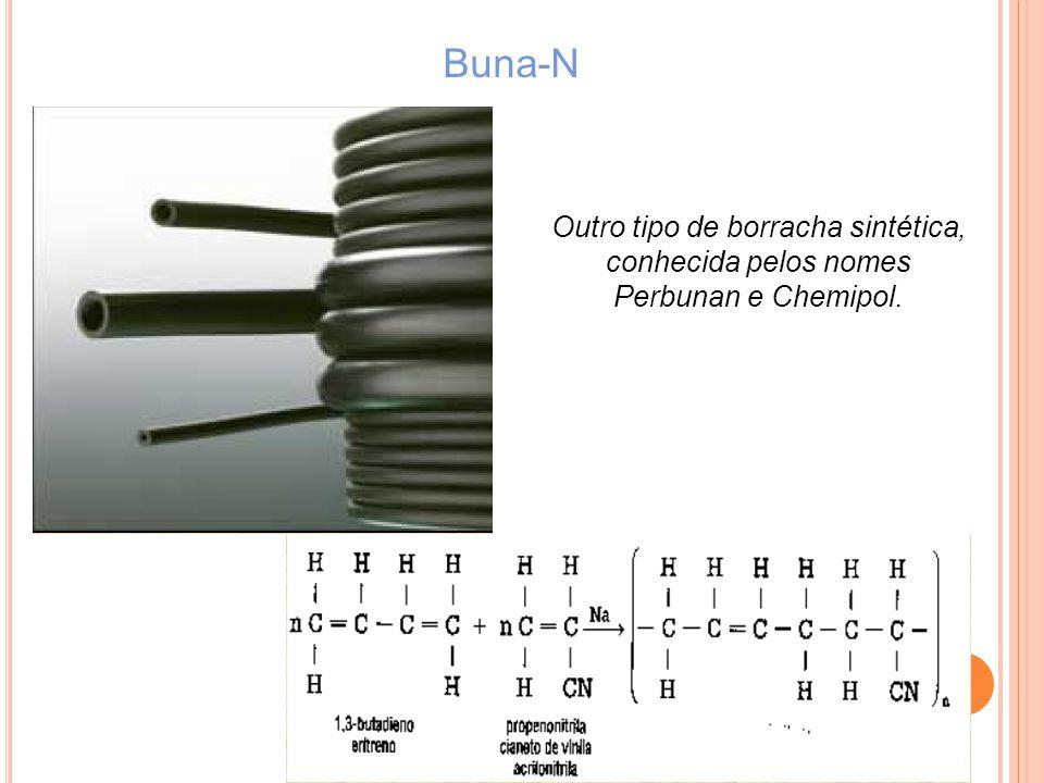 Buna-N Outro tipo de borracha sintética, conhecida pelos nomes Perbunan e Chemipol.