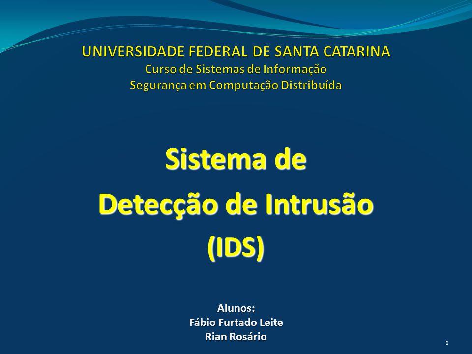 Sistema de Detecção de Intrusão (IDS) Alunos: Fábio Furtado Leite Rian Rosário 1