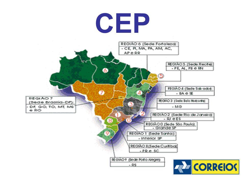 ESTRUTURA O primeiro algarismo representa a Região Postal 1 (Interior do Estado de São Paulo).
