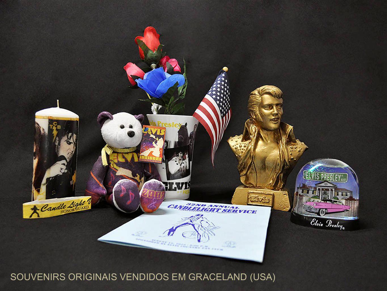 SOUVENIRS ORIGINAIS VENDIDOS EM GRACELAND (USA)
