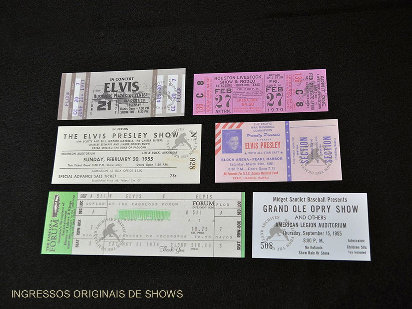 INGRESSOS ORIGINAIS DE SHOWS