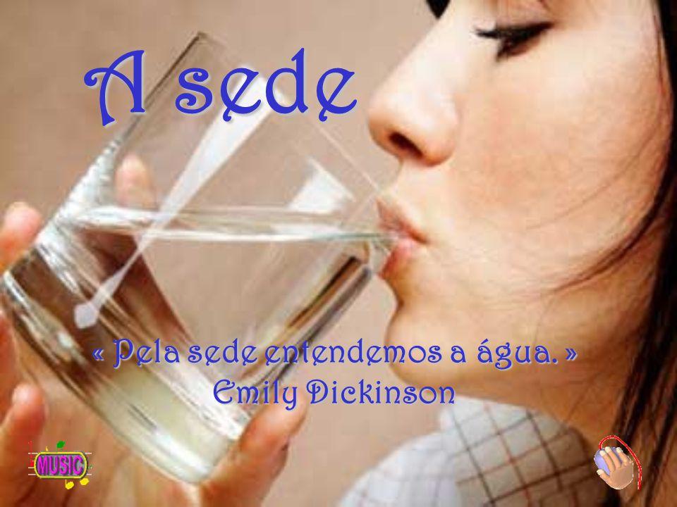 A sede « Pela sede entendemos a água. » Emily Dickinson