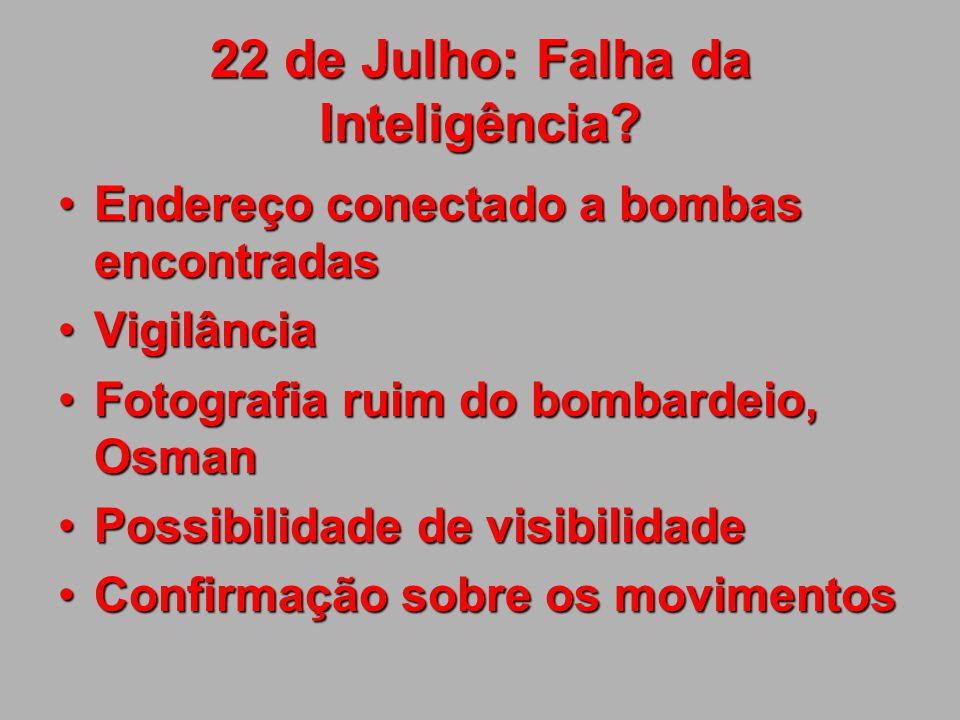 22 de Julho: falha do comando.