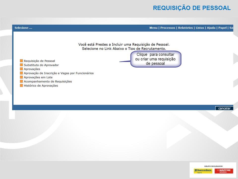 REQUISIÇÃO DE PESSOAL