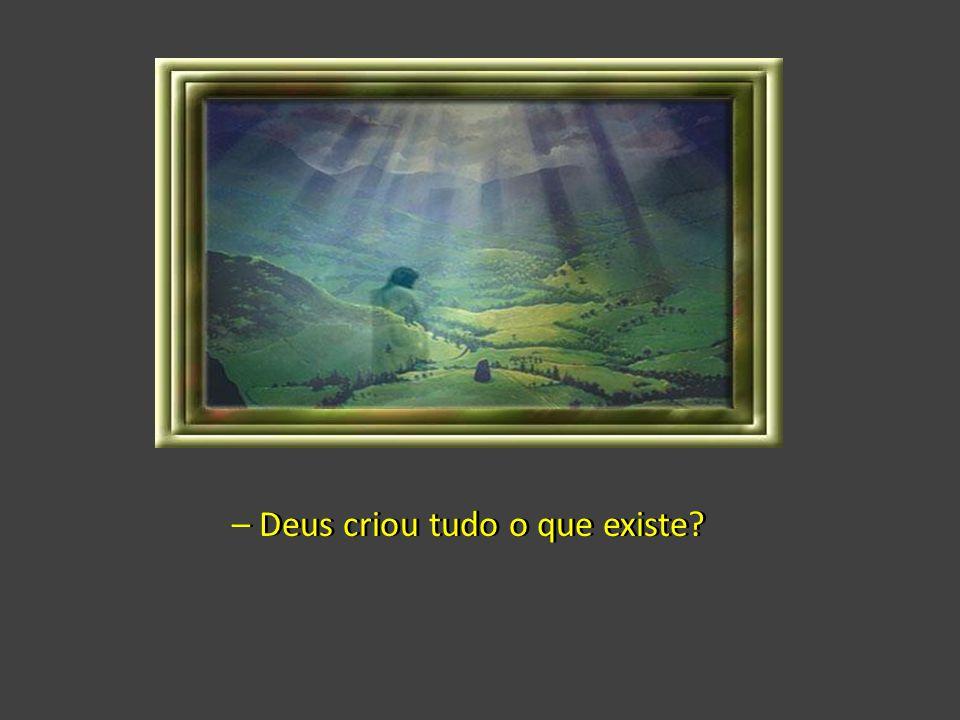 – Deus criou tudo o que existe?– Deus criou tudo o que existe?