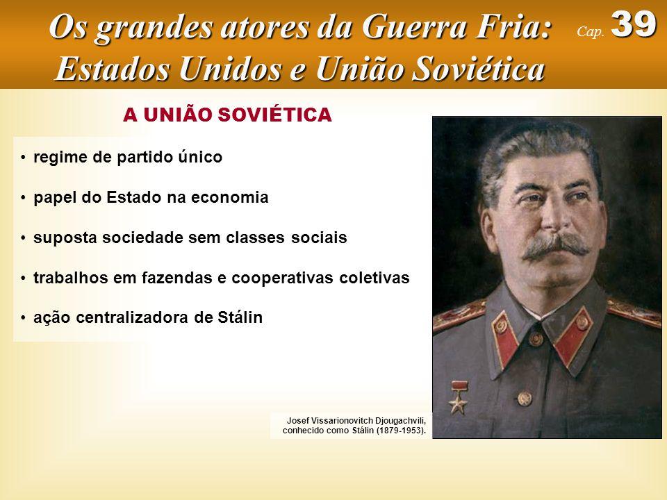 A UNIÃO SOVIÉTICA regime de partido único Josef Vissarionovitch Djougachvili, conhecido como Stálin (1879-1953).