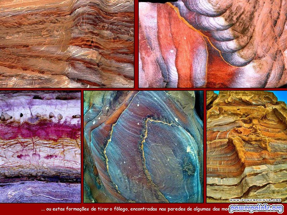 """É que a composição geológica de arenito colorido da região propicia """"pinturas"""" naturais como estas..."""
