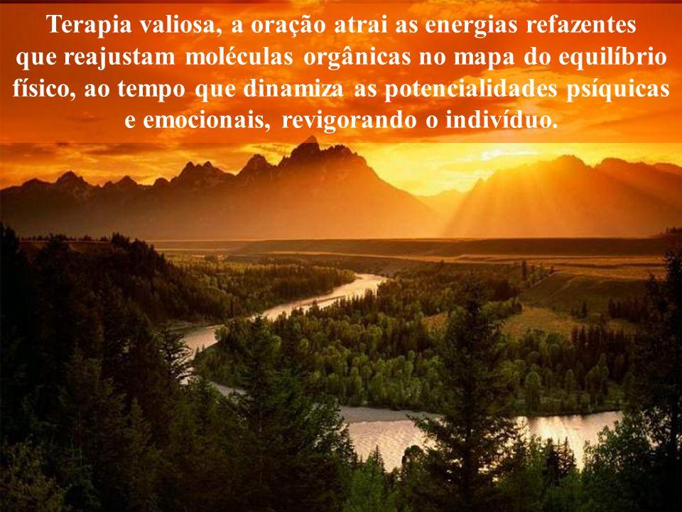 A mente que ora, sintoniza com as Fontes da Vida, enriquecendo-se de forças espirituais e lucidez.