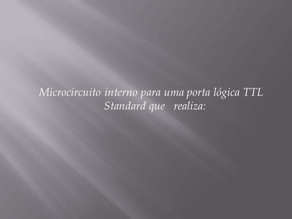 Microcircuito interno para uma porta lógica TTL Standard que realiza: