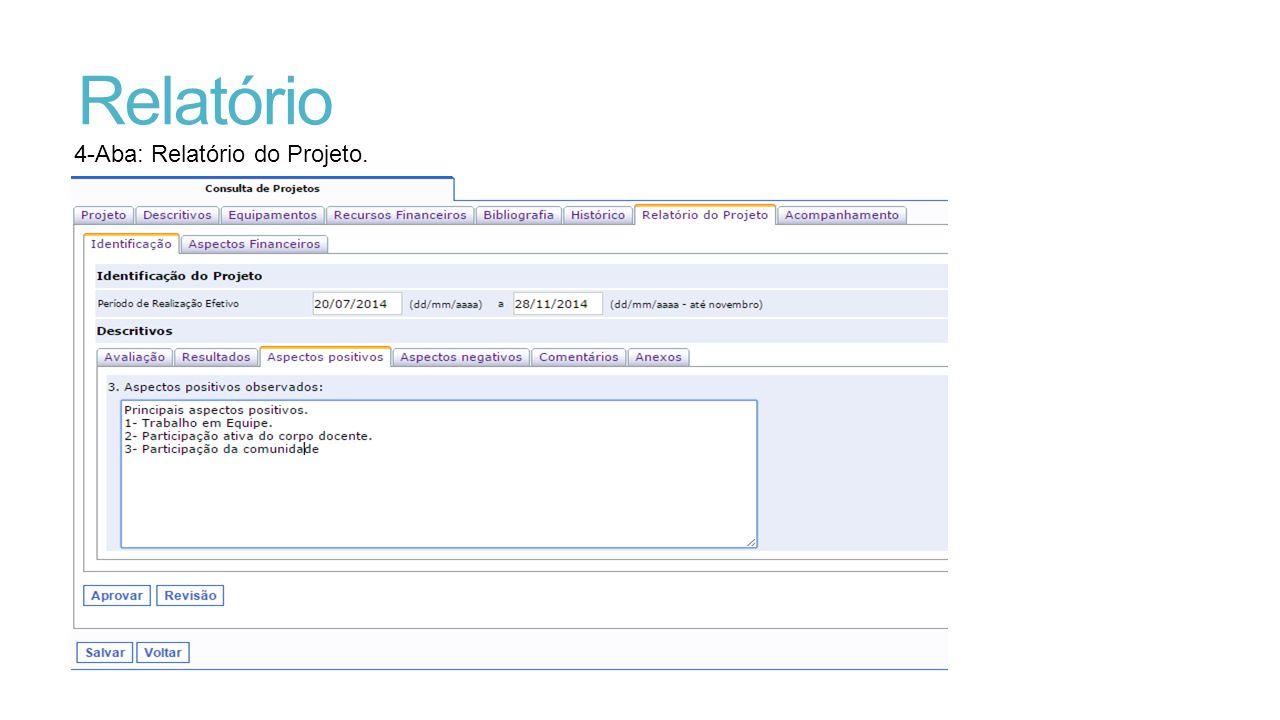 Relatório 4-Aba: Relatório do Projeto.