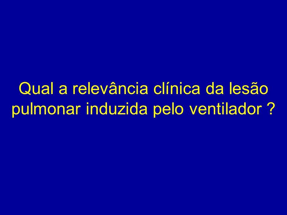 Qual a relevância clínica da lesão pulmonar induzida pelo ventilador ?