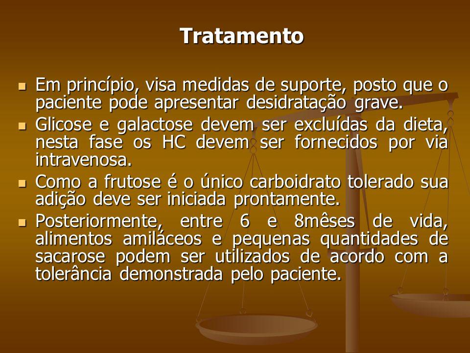 Tratamento Em princípio, visa medidas de suporte, posto que o paciente pode apresentar desidratação grave.