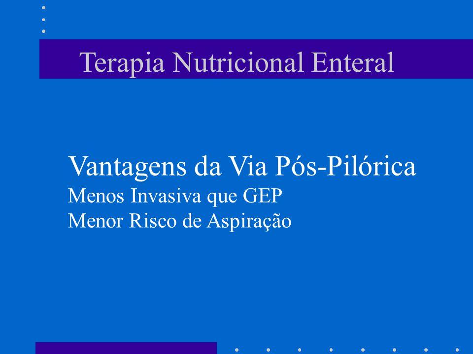 Terapia Nutricional Enteral Vantagens da Via Pós-Pilórica Menos Invasiva que GEP Menor Risco de Aspiração