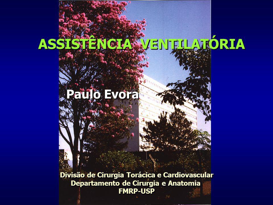 ASSISTÊNCIA VENTILATÓRIA Paulo Evora Divisão de Cirurgia Torácica e Cardiovascular Departamento de Cirurgia e Anatomia FMRP-USP Divisão de Cirurgia To