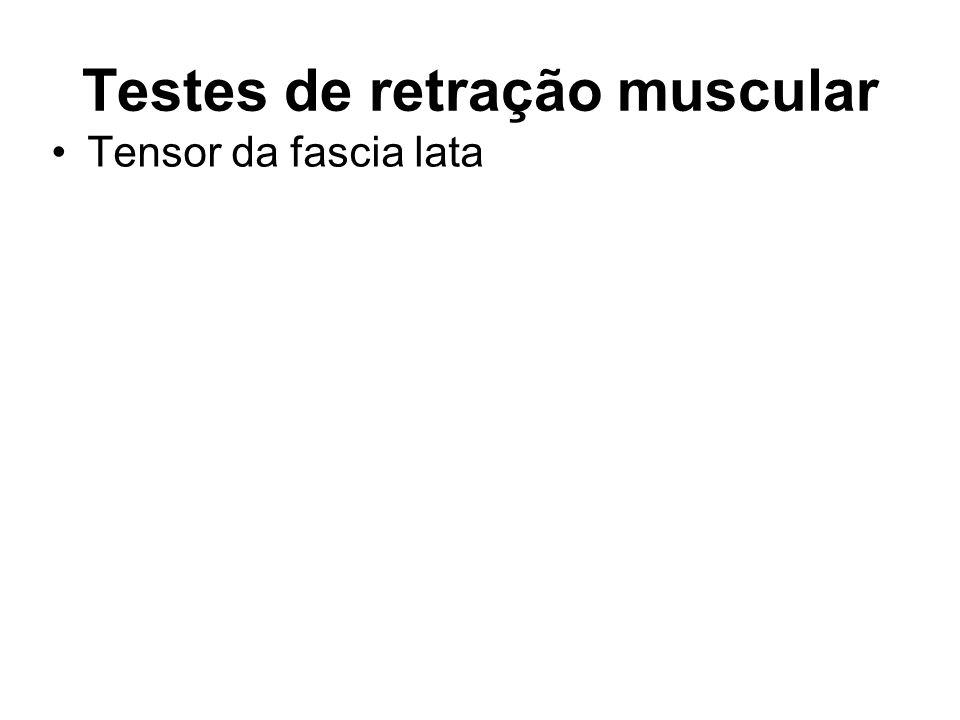 Testes de retração muscular Tensor da fascia lata