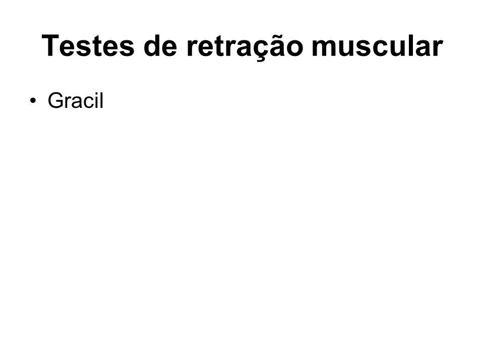 Testes de retração muscular Gracil