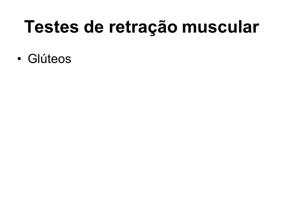 Testes de retração muscular Glúteos