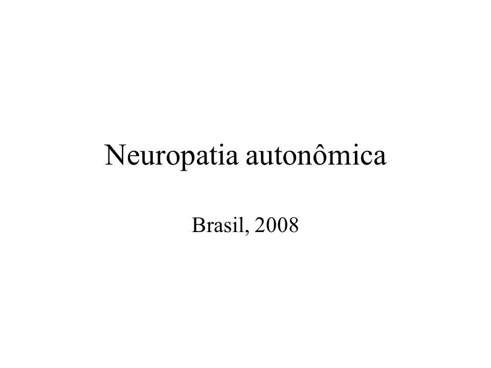 Neuropatia autonômica Brasil, 2008