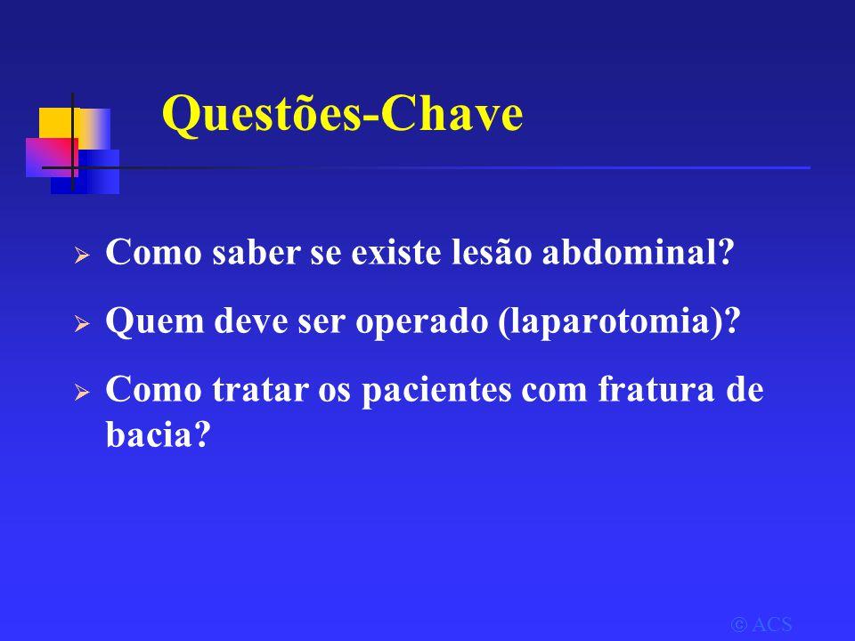 Questões-Chave  Como saber se existe lesão abdominal.