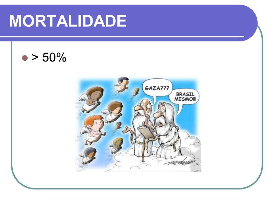 MORTALIDADE > 50%