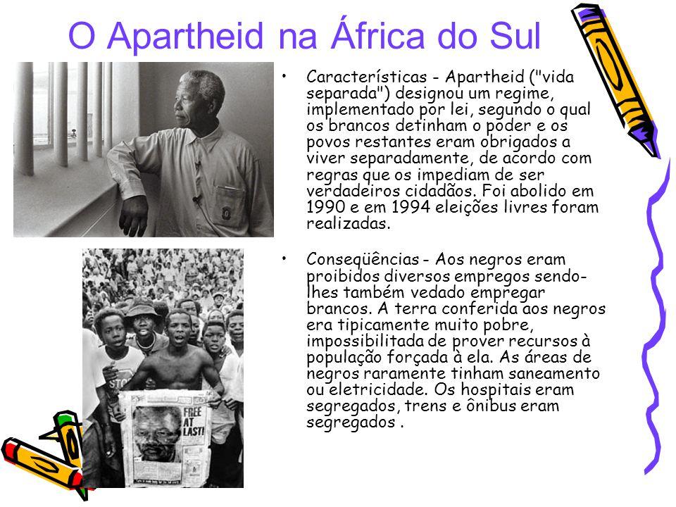 O Apartheid na África do Sul Características - Apartheid (