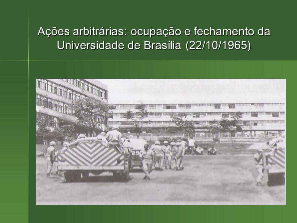 Ações arbitrárias: ocupação e fechamento da Universidade de Brasília (22/10/1965)