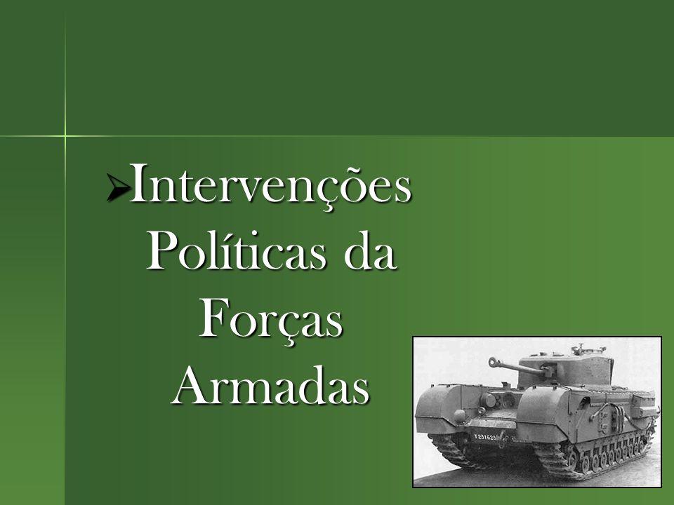  Intervenções Políticas da Forças Armadas