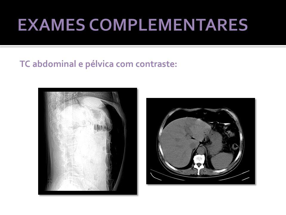 TC abdominal e pélvica com contraste: