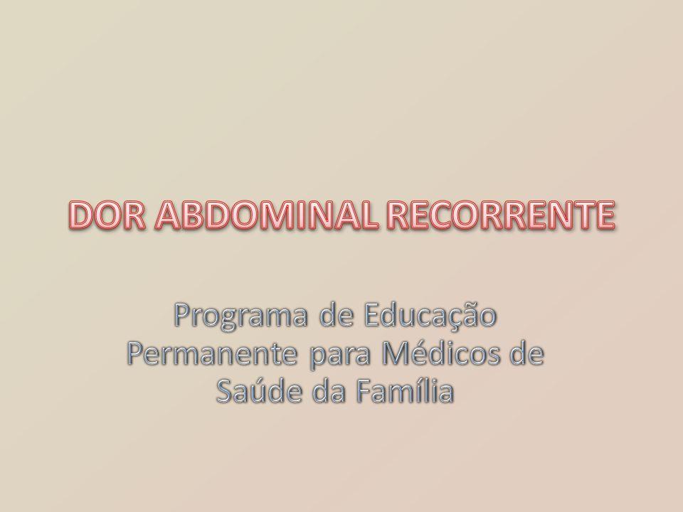 A dor abdominal é um problema comum em escolares.