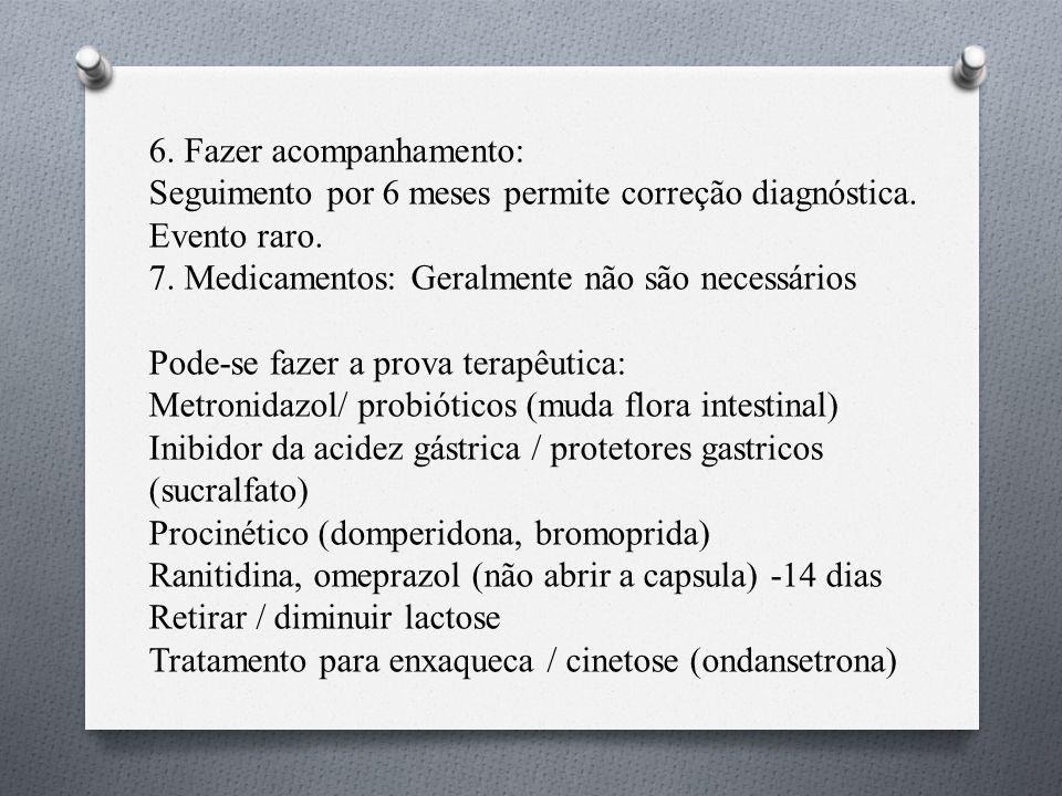 6.Fazer acompanhamento: Seguimento por 6 meses permite correção diagnóstica.