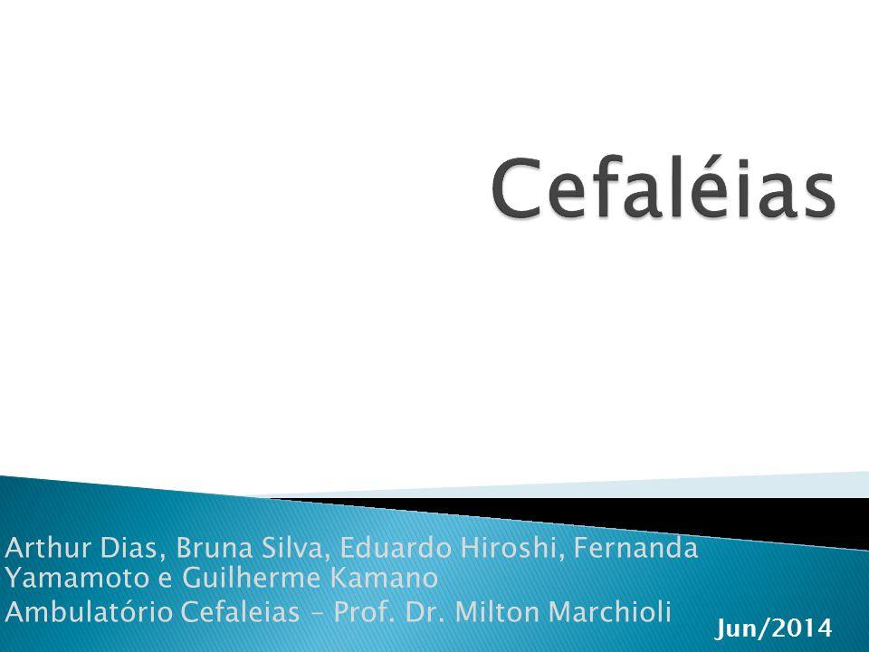  Cefaléia Aguda Recorrente  Cefaléias Primárias (sobretudo enxaqueca)  Cefaléia por retirada de substância (ressaca)  Cefaléia por hipotensão intracraniana  Cefaléia por drogas (nifedipina, nitratos, etc)  Neuralgias, HIC intermitente Evolução Temporal da Dor
