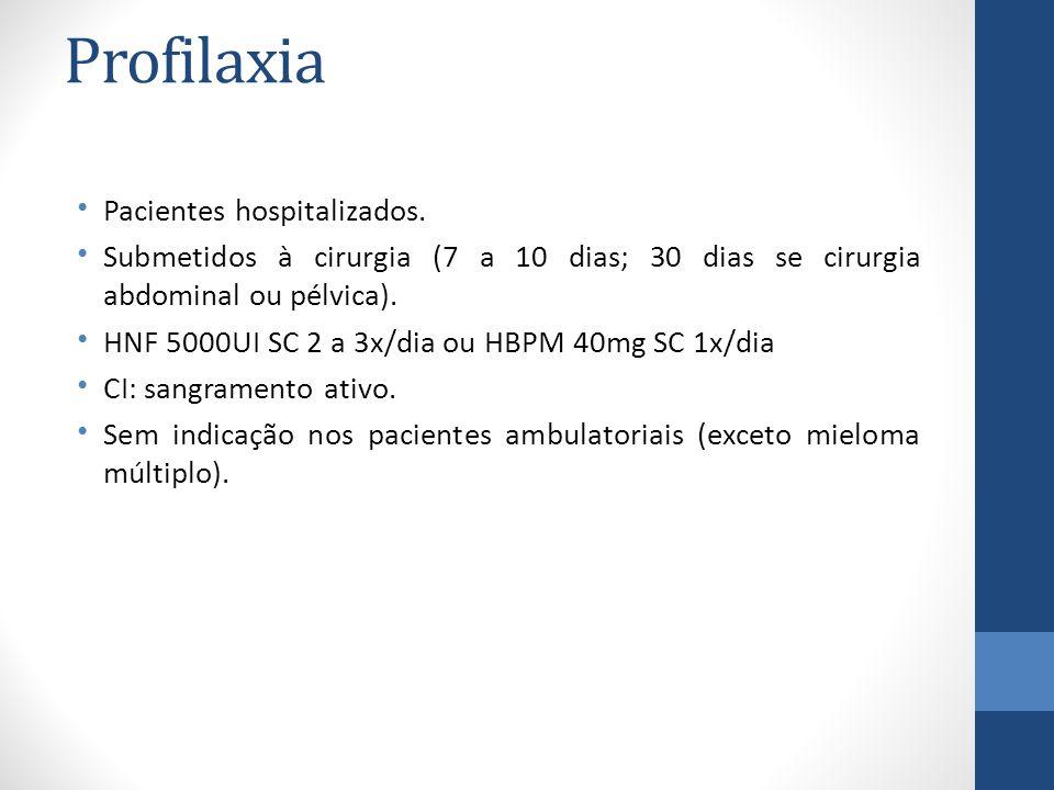 Trombose e câncer Anorexia e caquexia Constipação e diarréia Náuseas e vômitos