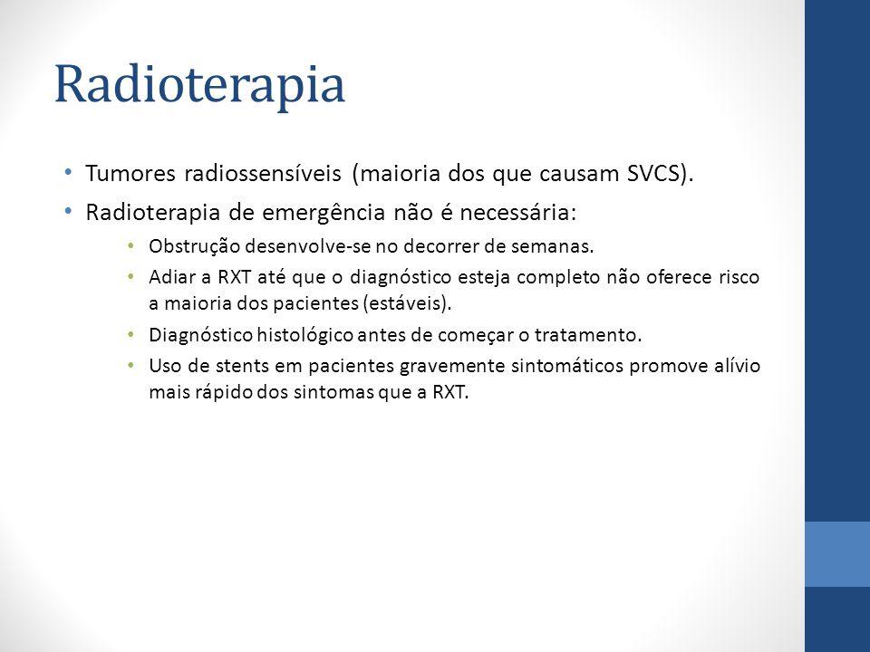 Radioterapia Tumores radiossensíveis (maioria dos que causam SVCS).