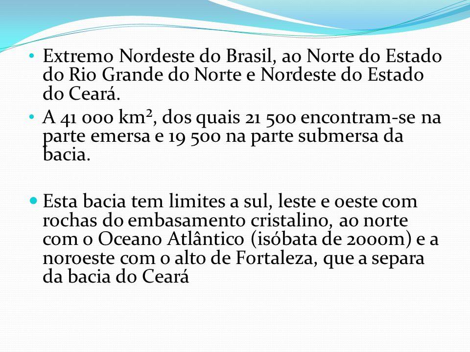 Extremo Nordeste do Brasil, ao Norte do Estado do Rio Grande do Norte e Nordeste do Estado do Ceará. A 41 000 km², dos quais 21 500 encontram-se na pa