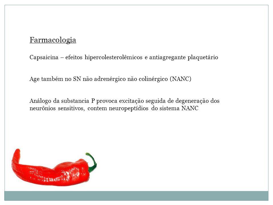 TINTURA-MÃE -Capsaicina – substancia picante e rubificante -Pigmentos carotenóides – ação provitamina A – efeito antiinflamatório e vasoconstritor -Pi