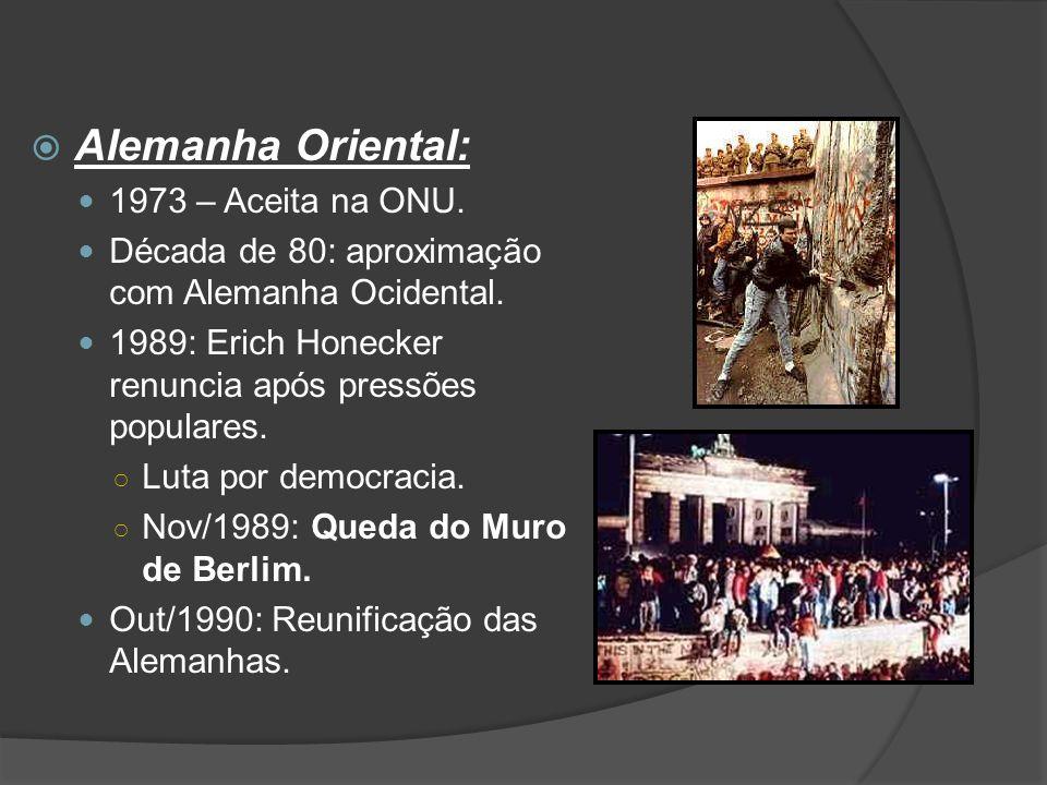  Romênia: Nicolae Ceaucescu (1965 – 1989): ditadura familiar (cópia de Stálin) ○ Securitate – polícia política.