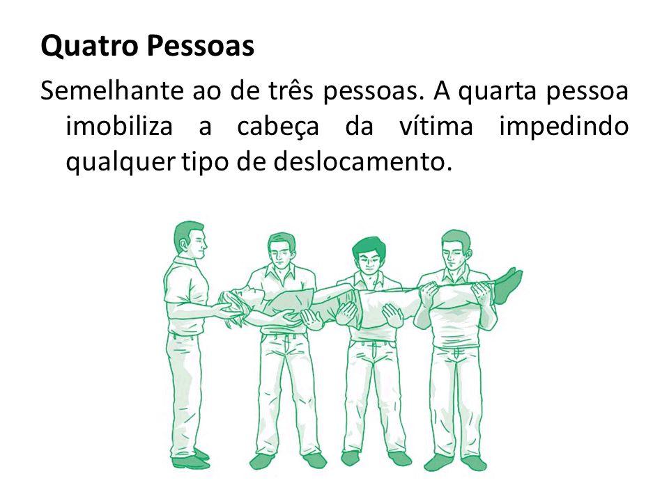 Quatro Pessoas Semelhante ao de três pessoas. A quarta pessoa imobiliza a cabeça da vítima impedindo qualquer tipo de deslocamento.