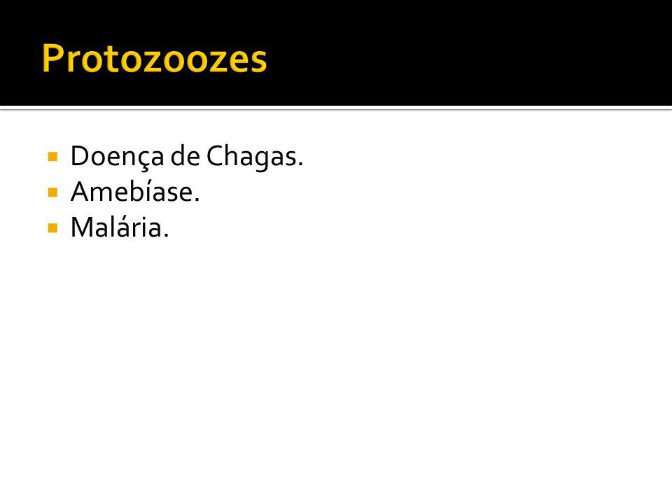  Doença de Chagas.  Amebíase.  Malária.