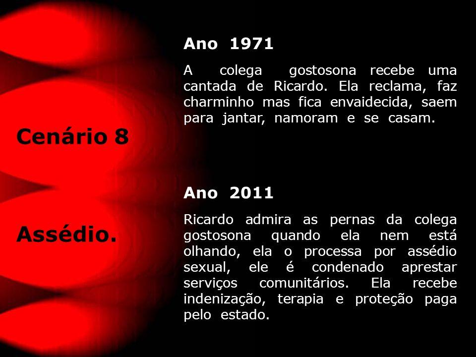 Ano 1971 A colega gostosona recebe uma cantada de Ricardo.