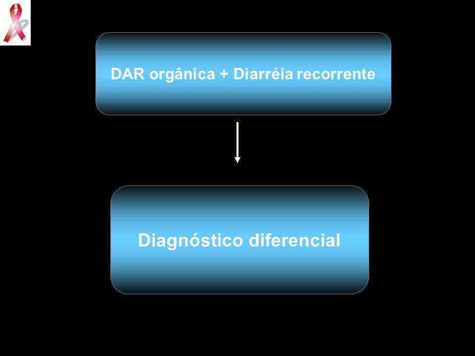 DAR orgânica + Diarréia recorrente Diagnóstico diferencial