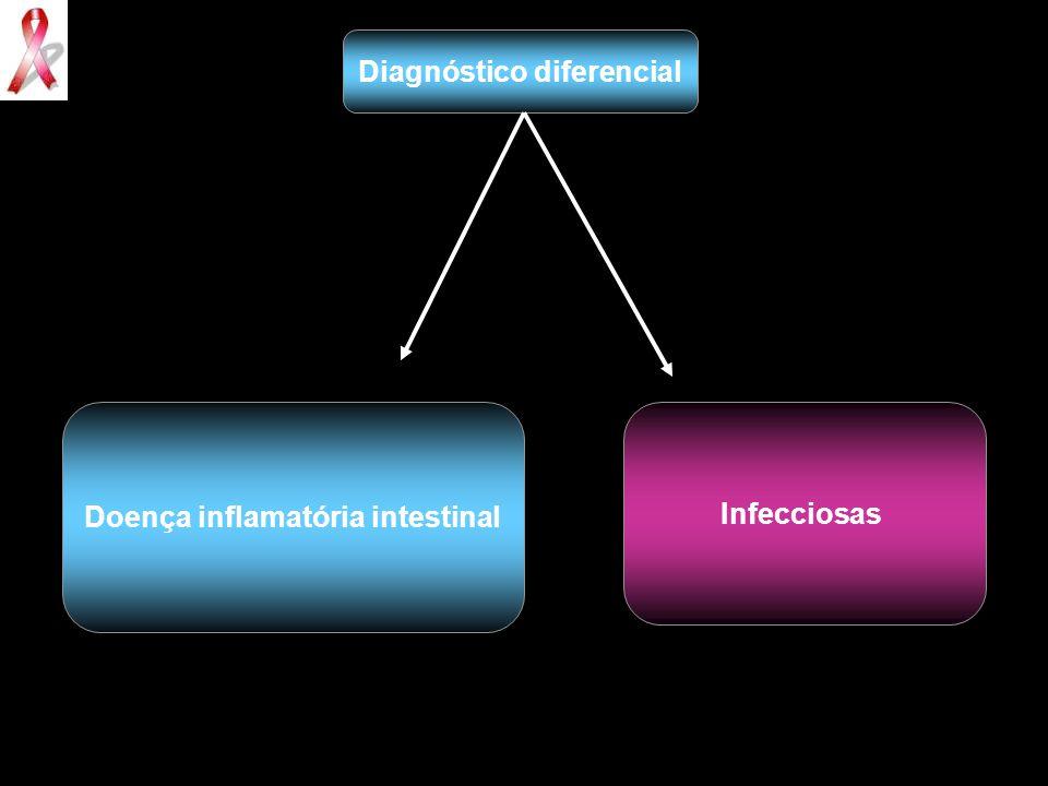 Diagnóstico diferencial Doença inflamatória intestinal Infecciosas