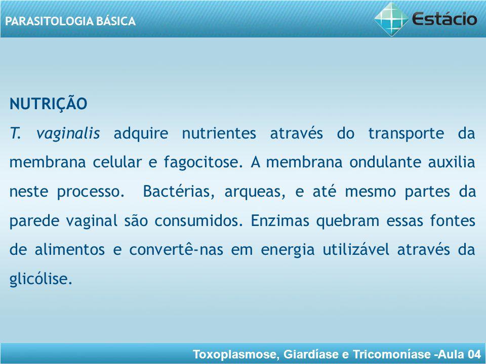 Toxoplasmose, Giardíase e Tricomoníase -Aula 04 PARASITOLOGIA BÁSICA HABITAT T.
