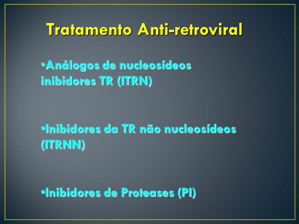 Tratamento Anti-retroviral Análogos de nucleosídeos inibidores TR (ITRN)Análogos de nucleosídeos inibidores TR (ITRN) Inibidores da TR não nucleosídeo